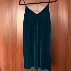 NWT Velvet Teal Mini Dress 👗